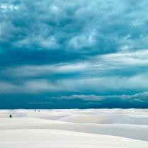 Un desierto de arenas blancas (en Estados Unidos)