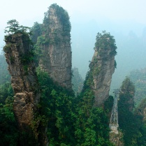3.000 pilares gigantes de roca (China)