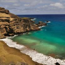 Una playa de arenas verdes (Hawai)