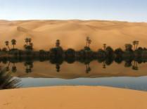 Estanques termales en el desierto (Libia)
